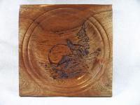 Pyrography - Howling Wolf - Wood