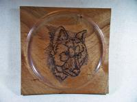 Pyrography - Wolf Portrait - Wood