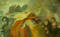 Biblical Art Art - The Banishment In Amona - Oil On Canvas