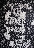 Posters By Steve - Flower Power - Ink Marker On Artist Paper