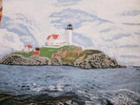 My Art - A Maine Lighthouse - Acrylic