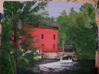 My Art - Grist Mill   Alley Spring Mo - Acrylic