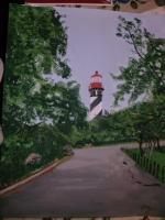 My Art - Staugustine Fla Lighthouse - Acrylic
