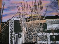 My Art - Sun Set On The Farm - Acrylic