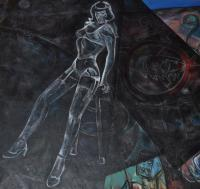 Night - Betty Page - Oil On Canvas