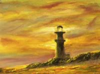 Impressionism - Farol In Brazil - Oil On Canvas