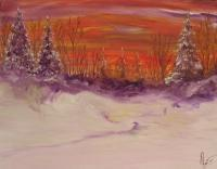 Impressionism - Nevando - Oil On Canvas