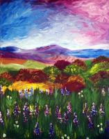 Sheryl Abid - Through The Meadow - Acrylic
