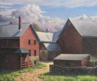 Around Back - Oil On Linen Paintings - By Will Kefauver, Representational Painting Artist