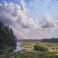 Farms And Fields - Moose River Afternoon - Oil On Linen