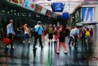 Manchester Watercolours - Manchester Picadilly Train Station - Water Colour