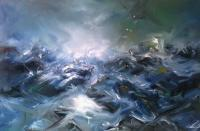 Seascapes - Storm On See - Oil On Panel