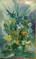 Nature - Fowers In Vase - Oil On Panel