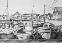 Scandinavian Light - Olberg Harbour - Pencil