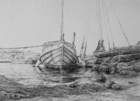 Tananger Harbour - Pencil Drawings - By Fred Hebing, Realism Drawing Artist