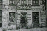 Stockholm Old Center - Pencil Drawings - By Fred Hebing, Realism Drawing Artist