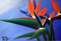 Paintings - Bird Of Paradise - Acrylic