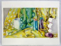 Watercolor - Still Life With Salt And Pepper Shakers - Watercolor