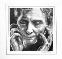 Pencil Rendering Study Of The Face Of Helen Keller - Pencil Drawings - By Lily Limtiaco, Realistic Drawing Artist