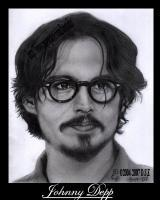 Pencil Drawings Of Famous Peop - Johnny Depp Pencil Drawing - Pencil  Paper