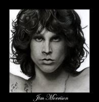 Pencil Drawings Of Famous Peop - Jim Morrison Pencil Drawing - Pencil  Paper