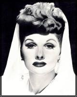 Pencil Drawings Of Famous Peop - Lucille Ball Pencil Drawing - Pencil  Paper