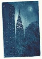 Chrysler Buildingnyc - Etching Printmaking - By Stephen Duffy, Realism Printmaking Artist
