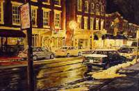 Lexington Street Light - Acrylic Paintings - By Thomas Akers, Realistic Painting Artist