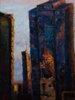 Cityscape - Urban Reflections - Oil On Canvas