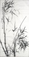Chinese Brush Painting - Romance With Bamboo 7 - Chinese Ink On Rice Paper
