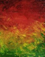 Psychedelic - Red Yellow Green - Oil