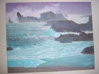Seascapes - Big Sur - Oil Paint On Canvas