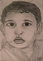 Innocence - Pencil On Paper Drawings - By Dheeraj Srivastava, Figurative Drawing Artist