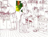 Drawing - Kitchen Maddness - Add New Artwork Medium
