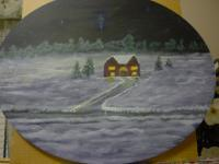 Dark Christmas - Acrylic Paintings - By Leon Maddox, Impresssionist Painting Artist