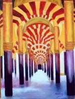 Landscape - Mezquita Of Cordoba - Oil On Streched Canvas