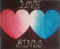 Love Binds - Acrylic Paintings - By Bright Okine, Abstract Painting Artist