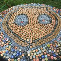 Cathead Balloon Table - Bottle Caps Other - By Eric Rittenhouse, Pre Post Modern Japanese Pop Other Artist