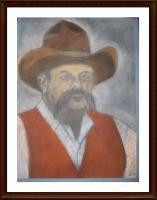 Aaron Gardner - The Rancher - Chalk Pastel