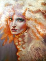 Fire And Ice - Oil Paintings - By Sylvia Lizarraga, Realism  Surrealism Painting Artist
