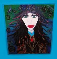 Faces - Dragonfly Princess - Acrylic Paint And Paint Pens