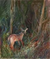 Animals - Deer - Oil On Canvas Paper