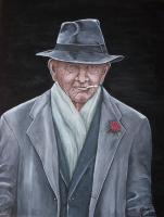 People - Spiffy Old Man - Acrylic On Canvas