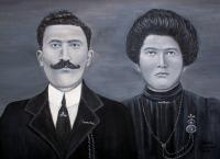People - The Grandparents - Acrylic On Canvas
