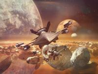 Leaving Angry Planet - 3D And 2D Composite Paintings - By Wayne Kostopolus, Digital Painting Painting Artist