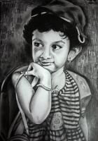 Pencil Drawing - Daughter - Pencil