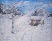Landscapesnow - Snow Storm - Acrylic On Canvas