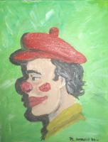 Characters Clowns - Clown Me And My Shadow - Acrylic On Canvas