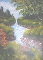 Landscape Water - Plum Hollow - Acrylic On Canvas