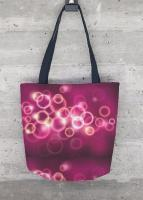 Abstract - Womens Tote Bag Bubbles - Digital